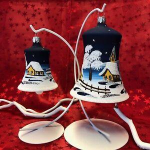 Maxi Glocke Glas Baumbehang Weihnachtsbaum Christbaum-Schmuck Handarbeit Lauscha