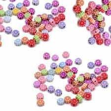 900 Random Acrylic Spacer Beads Round 6mm Flower Beads Hole 1.2mm