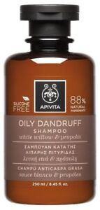 Details about APIVITA OILY DANDRUFF SHAMPOO FOR OILY HAIR , white willow &  propolis, 250ml