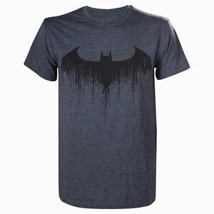Official-Licensed-Dripping-Bat-Logo-Batman-Arkham-Knight-DC-Comics-Grey-Tshirt