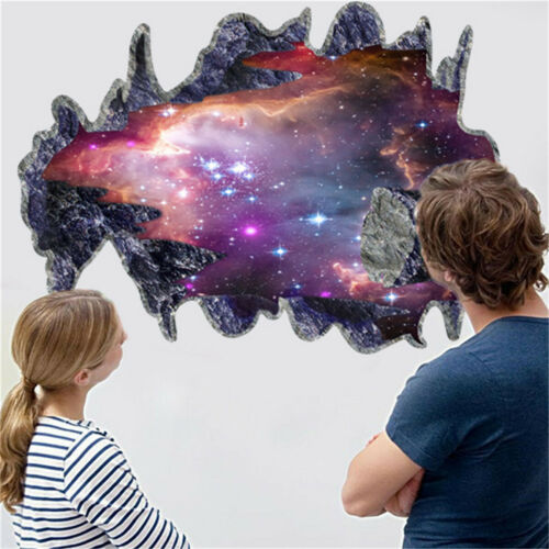 Creative 3D Window View Backround Wall Sticker Art Decal Mural Home Decor UK