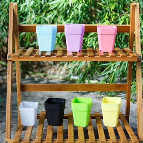 10x Random Color Plastic Mini Basin Flower Pot Succulent Plant Trays Garden Tool