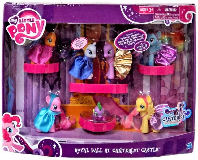 Royal Ball At Canterlot Castle My Little Pony Mlp 7 Figures Spike Applejack 2011 For Sale Online Ebay