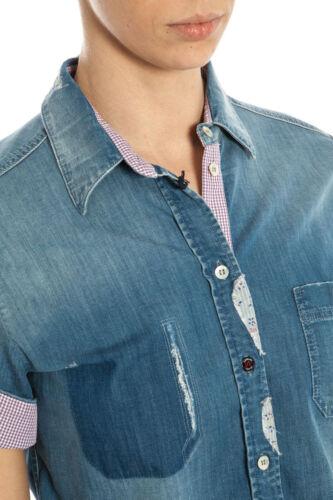 Camicia Armani Made 15 In Cotone Jeans Aj Italy A5c19g6 Donna Denim Shirt iPwOkTlXZu