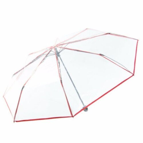 Waterproof Transparent Clear Umbrella Automatic Foldable Umbrella For Wedding
