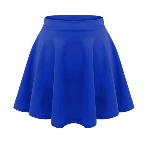 Enfants Filles Enfants Uni Taille Haute Extensible Flippy Évasé Courte Jupe de Patineuse