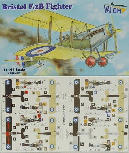 Plastikmodell 2 Modelle Valom *NEU* 1:144 Bristol F.2B Fighter Doppelpack