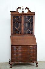 DK8562 : Large Antique American Made Mahogany Secretary Drop Front Desk Cabinet
