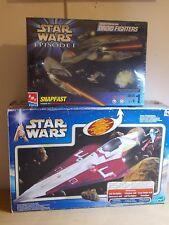 Star Wars Job Lot Jedi Starfighter and Snapfast Droid Fighter Model Kit.