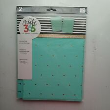 New Happy Planner Classic Snap In Cover Turquoisegold Dots 2pcs