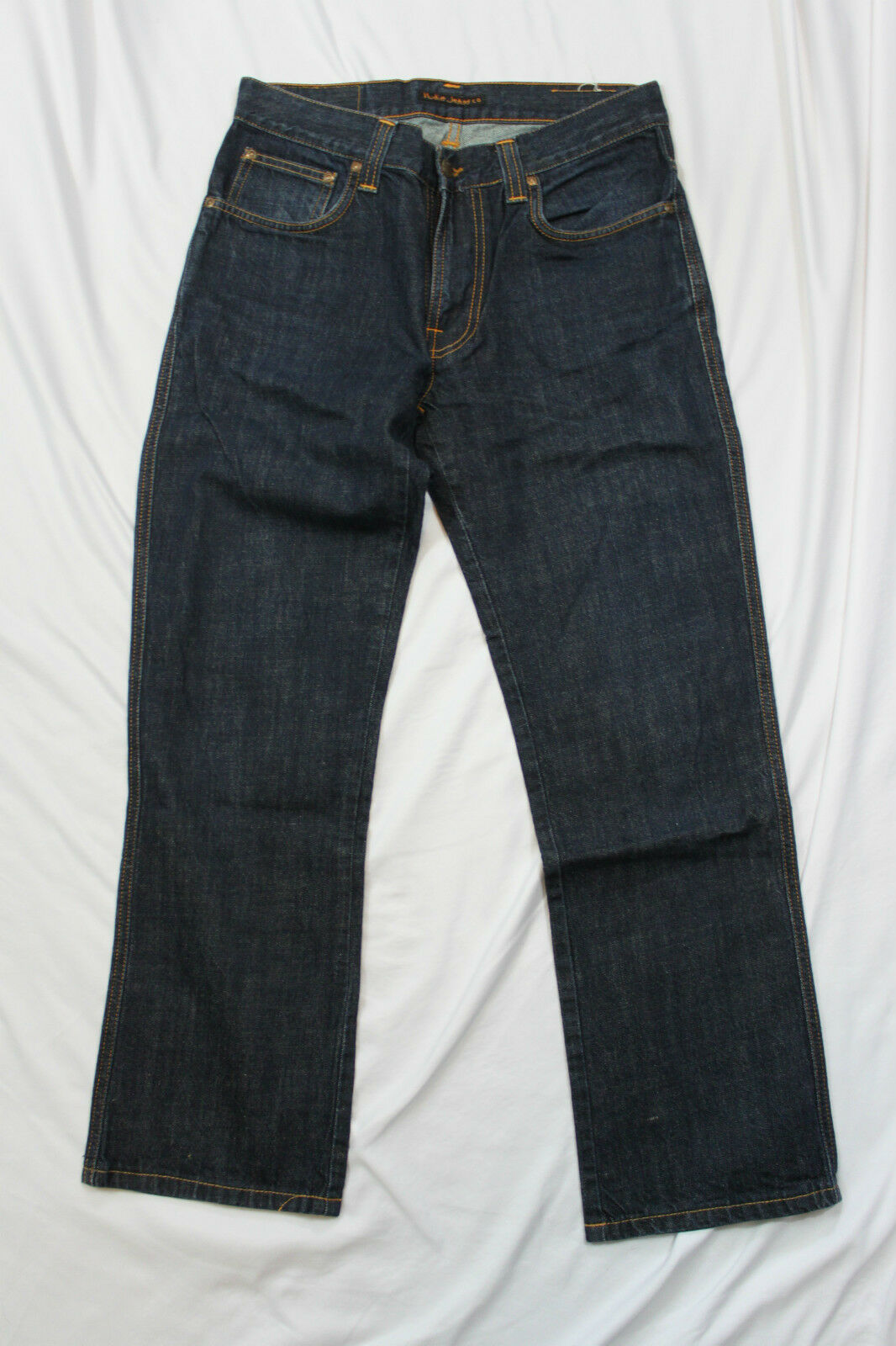 Nudie Jeans Slim Jim NJ2825 DRY NAVY ORGANIC W31 L28 Organic Cotton HEMMED