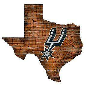 San Antonio Spurs Tx State Interstate Road Route Map Cut Out Wood