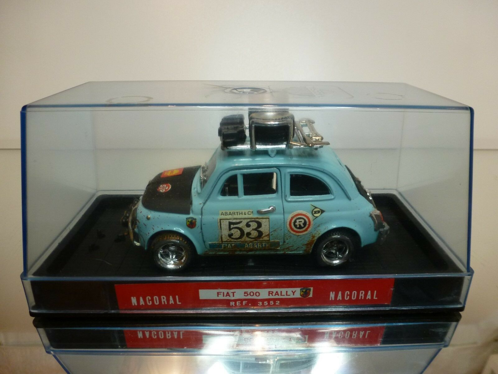 NACORAL 1 25 - FIAT 500 RALLY NO= 3552 - EXTREMELY RARE - EXCELLENT IN SHOW CASE