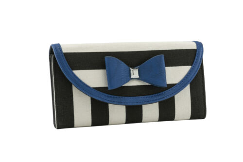 GG Rose by Rock Rebel Striped Sailor Wallet with Bow in Royal Blue