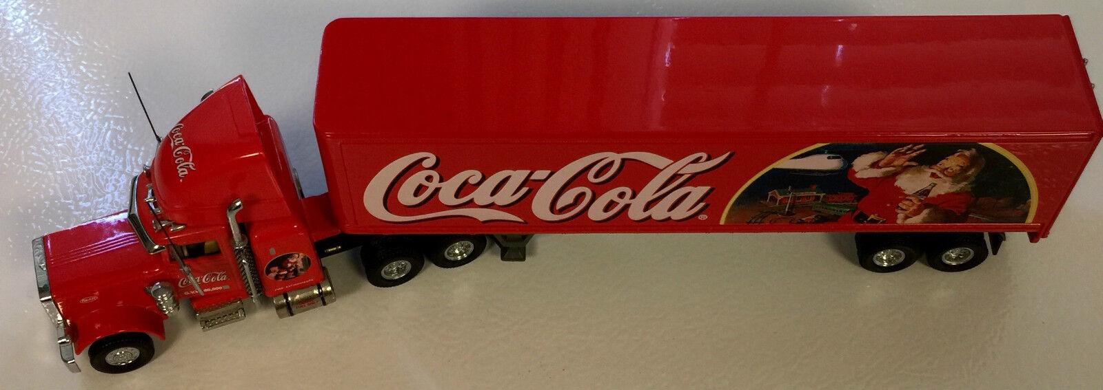 Matchbox Coca-Cola Temporadas Saludos Peterbilt 359 Long Hauler 1 58 Escala