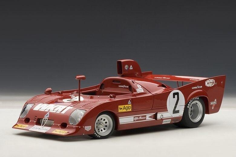ALFA ROMEO 33tt 33 TT 12 1000 km MONZA  2 Merzario Laffite Winner S Autoart 1 18