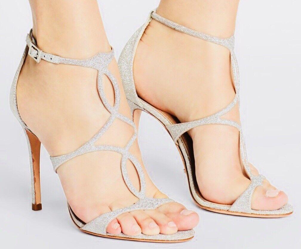 Schutz High Heels Sandaletten silber Pumps Schuhe 37 Zara  AUSVERKAUFT Größe 37 Schuhe e99718