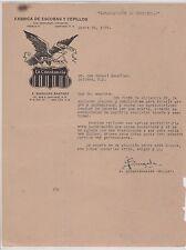 ANTIQUE COMMERCIAL LETTER / FABRICA DE EXCOBAS Y CEPILLOS /  PUERTO RICO 1939