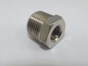 Bsp Reducer Male 38 Male To 14 Bsp Female Nickel Plated For