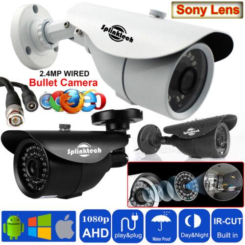 1080p Full HD 2.4MP CCTV Bullet Camera AHD OUTDOOR Night Vision 36 LEDs Security