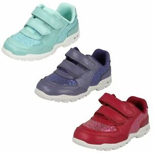 883579b943bb Image is loading Girls-First-Shoes-By-Clarks-Trainers-Brite-Play