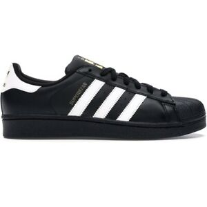 Adidas-Superstar-Mens-All-Sizes-Casual-Shoes-Athletic-Black-Sneakers-Shell-Toe