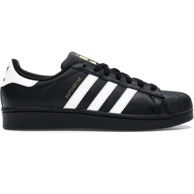 Adidas Superstar Mens All Sizes Casual Shoes Athletic Black Sneakers Shell Toe