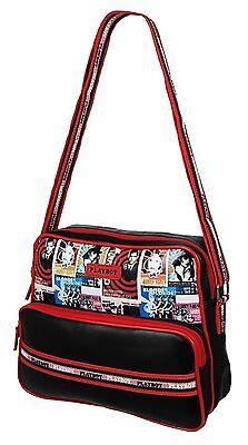 Vintage Black & Red Retro Playboy Bunny Shoulder Gym Bag, School Satchel Handbag