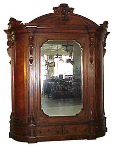 Antique-Victorian-Armoire-with-Beveled-Mirror-5074