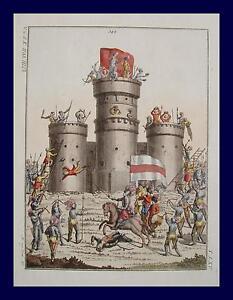 Medieval-Knight-Armor-Castle-Siege-Bogenschutze-Bow-Arch-Sturmleiter