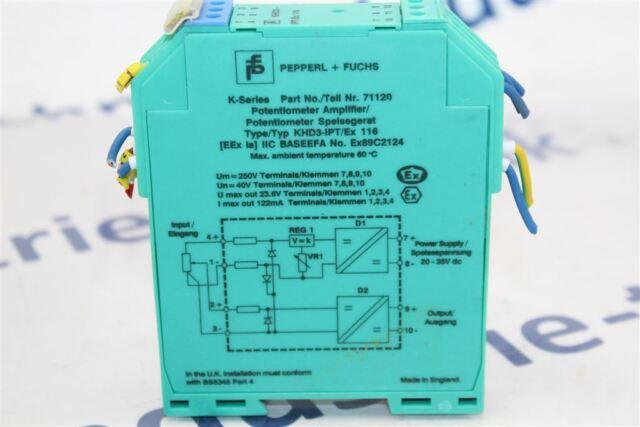 PEPPERL FUCHS KHD3-IPT//EX 116 71120 POTENTIOMETER AMPLIFIER NIB KHD3IPTEX116