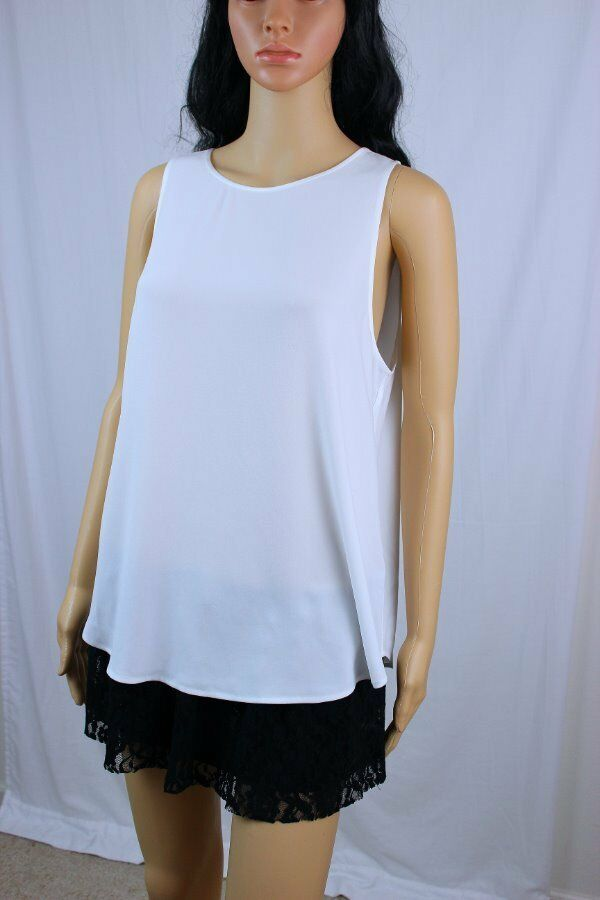 POLO by Ralph Lauren Weiß keyhole sleeveless top NWT