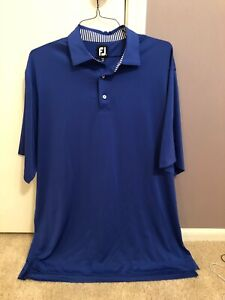 FootJoy-Hommes-Performance-Golf-Polo-Bleu-XL-tres-bon-etat