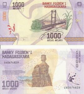 Madagascar-Madagascar-1000-Ariary-2017-UNC-Pick-NEW