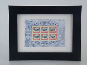 Inverted-Jenny-Souvenir-Sheet-Matted-and-Framed