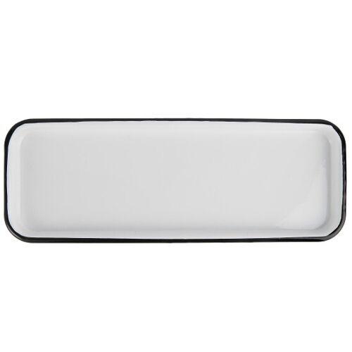 Rectangular White Enamel Tray 35 cm by Ib Laursen