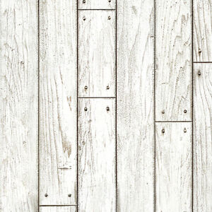 Details About White Wood Panel Self Adhesive Wallpaper Rustic Wallcovering For Living Rooms