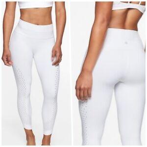 athleta fearless tadasana 7/8 tight leggings s small white