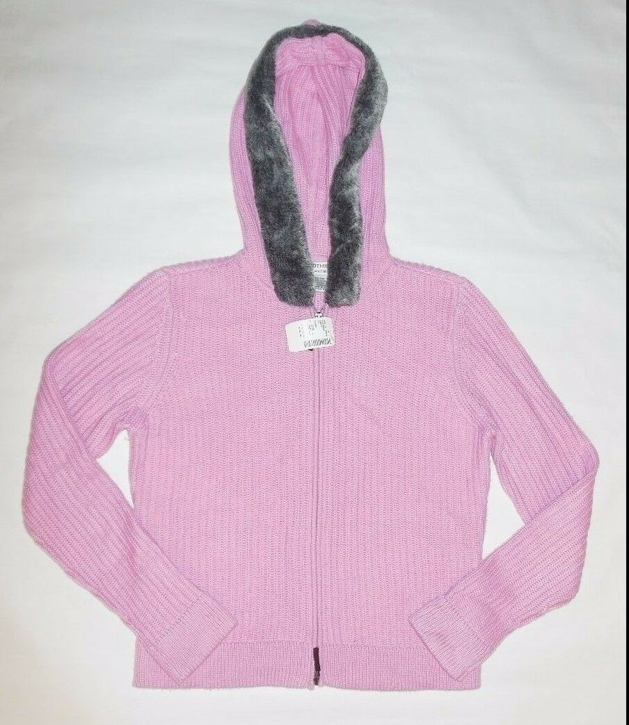 NWT REAL CLOTHES SAKS FIFTH AVENUE WOMEN SWEATER PINK HOODIE LONG SLEEVE SZ XL