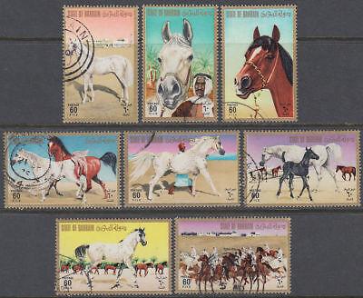 Bahrain 1975 Used Mi.232/39 Pferde Horses gb756 Stamps