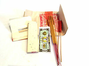 Details about Chinese Joss Stick Material Praying Pack - Joss Papers,  Incense Sticks, Candles