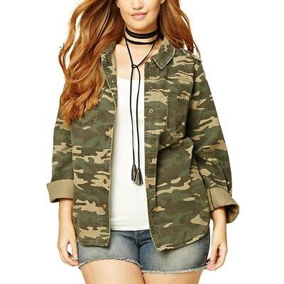 Mujer Militar Chaquetas Completo Mangas Camuflaje Abrigos Tallas Grandes Ligero Ebay