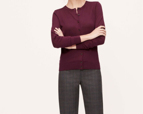 Ann Taylor LOFT Cotton Cardigan Size X-Large NWT Whisper White Color