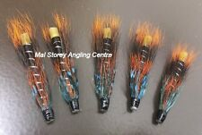 Five Salmon Tube Flies - Thunder And Lightning 3/4''