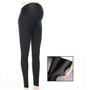 0232224fa3619 Image is loading Shiny-Overbumped-Leggings-Skinny-Pants-Trousers-Pregnancy- Maternity-