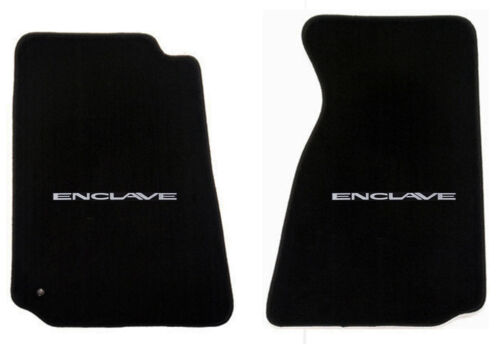 2012-2015 Black front Floor mats Buick Enclave embroidered logo emblem Pair NEW