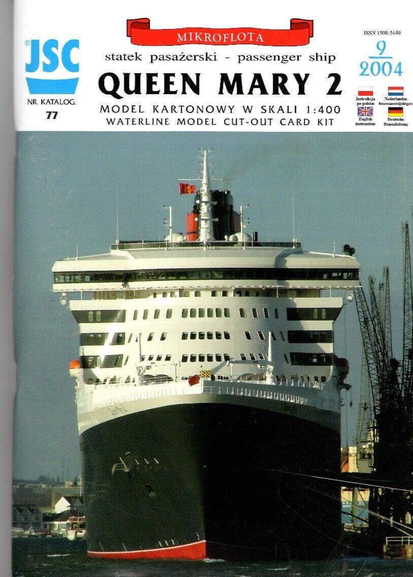 Card Model Kit – Liner Liner Liner Queen Mary 2 fb1