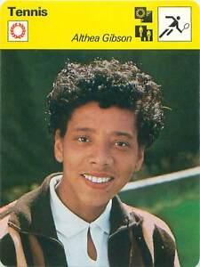 FICHE-CARD-Althea-Gibson-USA-TENNIS-1970s