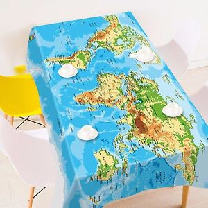 3d map 4820 tablecloth table cover cloth birthday party event aj image is loading 3d map 4820 tablecloth table cover cloth birthday gumiabroncs Choice Image