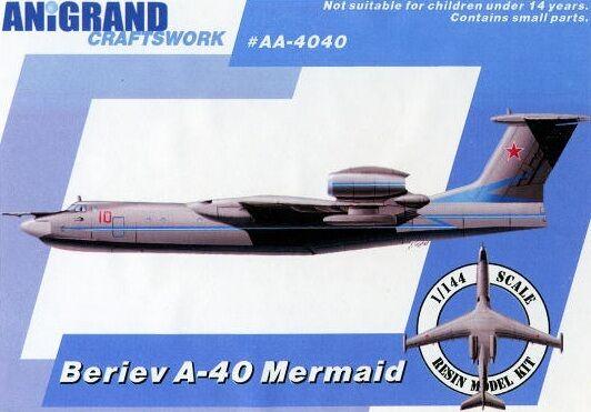BERIEV A-40 MERMAID (+Be-R1, Ka-29 & Sam-29) ANIGRAND 1 144 RESIN KIT